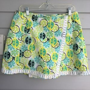 CROWN & IVY Citrus Print Skort 10